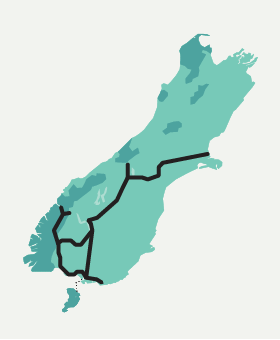 Stew Mini Map - South Island Pass - Stray New Zealand