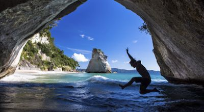 NZ Cathedral Cove thumb
